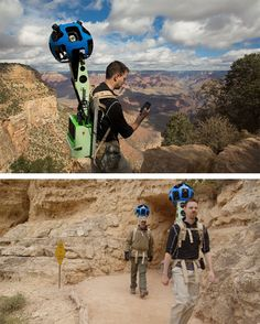 The Maps team mapped the Grand Canyon on foot. Technology Gadgets, Tech Gadgets, Science And Technology, Bucket List Holidays, Bright Angel Trail, Gps Tracking, Cool Tech, Tecno, Cartography