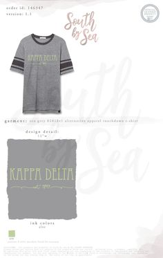 Kappa Delta | KD | Script Design | Outfit Inspiration | Bid Day | Sisterhood | Recruitment | South by Sea | Greek Tee Shirts | Greek Tank Tops | Custom Apparel Design | Custom Greek Apparel | Sorority Tee Shirts | Sorority Tanks | Sorority Shirt Designs