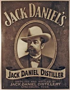 Retro Jack Daniels Portrait Tin Sign Vintage Look Bar Garage Man Cave NEW