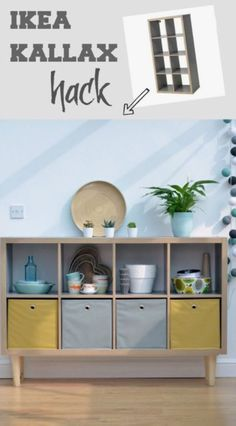 15 IKEA hacks to transform your living room. Like the idea of put legs on mine. - Ikea DIY - The best IKEA hacks all in one place Ikea Kallax Hack, Living Room Hacks, Living Room Decor, Living Rooms, Storage Ideas Living Room, Ikea Furniture, Furniture Makeover, Furniture Ideas, Laminate Furniture