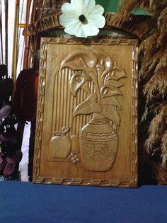 Cuadro de madera en relieve
