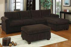 Corduroy Sectional Sofa $478