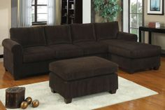 Corduroy Sectional Sofa $478