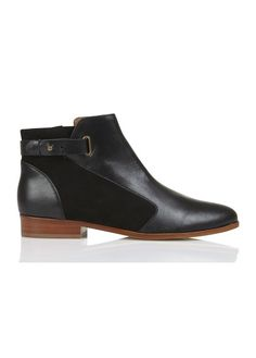 Bottines en cuir Baril Noir by COMPTOIR DES COTONNIERS