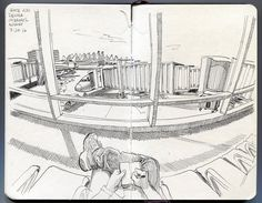 Obligatory airport sketch at gate Denver International Airport. Human Figure Sketches, Figure Sketching, Urban Sketching, Architecture Exam, Airplane Interior, Perspective Drawing, Wildlife Art, Drawing People, Illustration Art