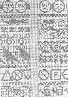 krokodille | SKRIBLERIER FRA GRETES HODE Knitting Charts, Knitting Stitches, Knitting Designs, Knitting Patterns, Cross Stitch Pillow, Cross Stitch Borders, Cross Stitch Patterns, Fair Isle Chart, Fair Isle Pattern