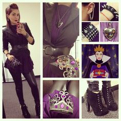 Evil Queen Disneybound!  So wearing something like this for my birthday next friday to work!!