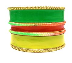 2014 Brasil World Cup Wrist Fashion Female Bracelets and Bangles. Exaggerated Wide Candy Colorful Metal Bangles Jewelry $4.85