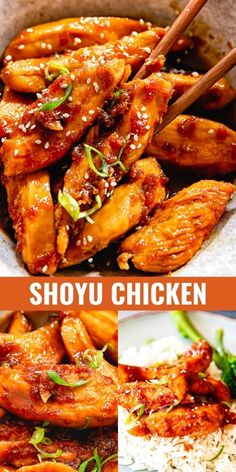 Chicken breasts gently poached in the aromatic mixture of soy sauce, ginger, garlic, mirin and brown sugar. No marinating necessary for this shoyu chicken recipe without compromising on flavour!