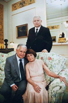 Lech i Maria Kaczynski and brother