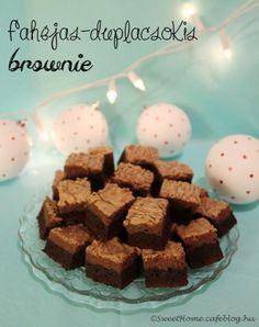 Fahéjas-duplacsokis brownie