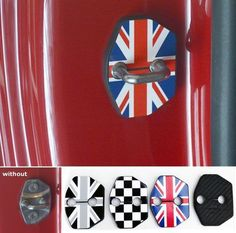 Cheap accessories halloween, Buy Quality accessories captiva directly from China accessories sunglasses Suppliers:   Relfective Car styling Mini Cooper one Clubman R55 R56 jcw Interior Door lock Red/Black Union Jack Checkered Flag