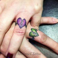 Frankie heart wedding bands. Finger tattoos
