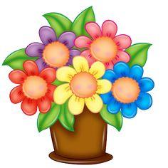 FLÔRES & JARDIM E ETC Happy flowers Flower art Clip art