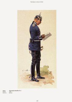 German; 2nd Telegraph Battalion, Major. c.1905. Raised 1899. Home Depot Koubus