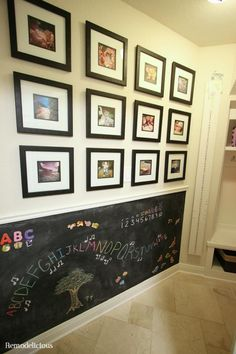 DIY Magnetic Chalkboard Wall With Instagram Family Photo Gallery