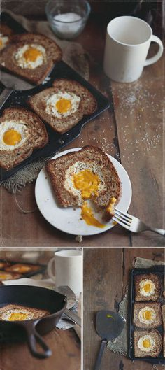 """My mother in law taught me this.. She calls it """"egg in the middle"""" and it's SOOOO good!! And simple!"""