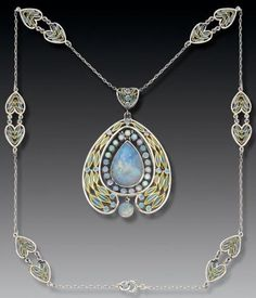 Opal necklace, Louis Comfort Tiffany, 1902 via Tadema Gallery