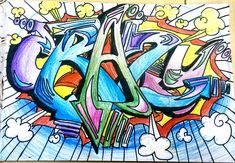 Year 8 Graffiti project Graffiti Art, Graffiti Styles, Mural Wall Art, Murals, Letter Art, Letters, Pin Art, Sketch Inspiration, Art Journal Pages