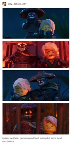 I actually really like Garmadon's desgin in the movie <-- this is literally the cutest thing Lego Ninjago Lloyd, Lego Ninjago Movie, Lego Batman Movie, Lego Memes, Ninjago Memes, Legos, Lego Lego, Kids Shows, Disney Cartoons