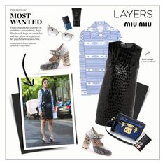 """""""MFW: Layers"""" by amaryllis ❤ liked on Polyvore featuring Anya Hindmarch, Miu Miu and NARS Cosmetics"""