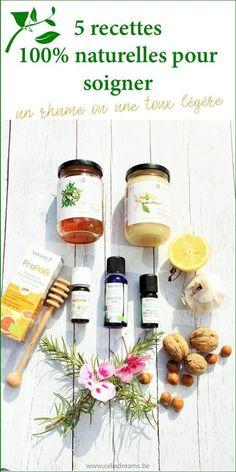5 astuces et recettes naturelles de médecines douces pour agir préventivement contre les refroidissements (rhume et toux), se soigner et rester en forme tout au long de l'automne et de l'hiver. Préserver sa santé naturellement grâce aux plantes, miel, huiles essentielles etc.. #santé #naturelle #remède #toux #rhume Healthy Drinks, Homemade, Blog, Diy, Ayurveda, Natural, Natural Health, Essential Oils Guide, Bricolage