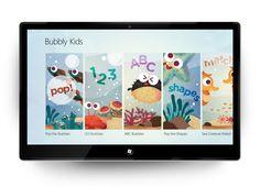 Bubbly Kids App by Jade Tan Swea Phin, via Behance