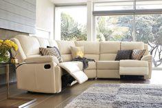 Janus 6 Seater Leather Corner Lounge Suite