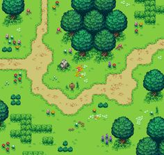 added some new plants,, path and new suff. Path was very hard to make. Sprites, 2d Game Art, Pixel Art Games, Isometric Design, Learn Art, Environmental Art, Game Design, Art Tutorials, Art Inspo