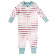 Hanna Andersson Baby Sleeper – Strawberry Stripe | Serena & Lily