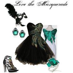 black masquerade dresses outfits