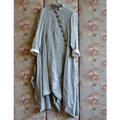 Swirly Hem Linen Coat - looks so comfy Boho Fashion, Womens Fashion, Fashion Design, Mode Hippie, Mori Girl, Mode Vintage, Linen Dresses, Mode Outfits, Mode Inspiration