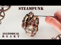 ▶ Стимпанк. Анатомическое сердце из полимерной глины (Steampunk anatomical heart) - YouTube