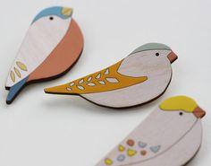 Greenfinch Wooden Bird Brooch by AnnaWiscombe on Etsy Wooden Bird, Wooden Toys, Greenfinch, Wood Toys Plans, Art Supply Stores, Paper Birds, Bird Earrings, Ceramic Birds, Wooden Animals