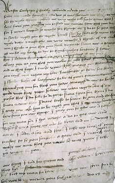 Catherine Howard's Letter to Thomas Culpepper-Excerpt: 'For I never longed so muche for [a] thynge as I do to se you and to speke wyth you, the wyche I trust shal be shortely now, the wyche dothe comforthe me verie much whan I thynk of ett and wan I thynke agan that you shall departe from me agayne ytt makes my harte to dye to thynke what fortune I have that I cannot be always yn your company.' READ full letter online...