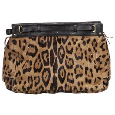 JEROME DREYFUSS Leopard Print Cotton Handbag Carlos | Vestiaire Collective