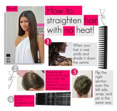How to: straighten hair without heat by nina1596 on Polyvore featuring beauty, GHD, Monki and Coleman