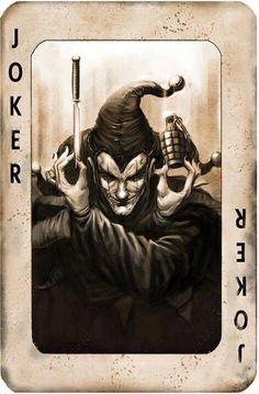 Arte Horror, Horror Art, Joker Card Tattoo, Joker Kunst, Joker Playing Card, Jokers Wild, Custom Playing Cards, Joker Art, Joker Joker