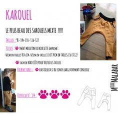 Patron et tutoriel - Sarouel enfant Karouel