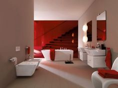 39 Cool And Bold Red Bathroom Design Ideas | DigsDigs