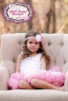 Pink and white satin shabby headband , shabby headband , shabby flower headband ,girls headband on Etsy, $10.95
