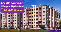#2BHK, #3BHK flats for sale in #Miyapur, #Hyderabad. Size range - 1155 - 1790Sq.ft Price range - 33Lacs to 51 Lacs For more details click on http://www.homesulike.com/index.php/projects/viewdetails/Prajapati-Elite1 Call us 040-66666616 for site visit.