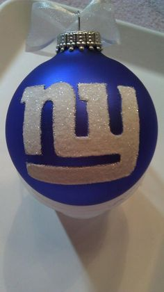 NY Giants Superbowl Edition Glass Ball by GlitterOrnaments on Etsy      i'll always be a steelers girl, but now that i live in new york, maybe i should get some giants stuff, too... i can be a giants fan as long as they're not playing my steelers!