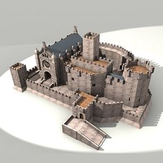 Warrior Monk Castle Model available on Turbo Squid, the world's leading provider of digital models for visualization, films, television, and games. Medieval Castle Layout, Minecraft Medieval Castle, Medieval Houses, Fantasy Town, Fantasy Castle, Fantasy House, Architecture Concept Drawings, Historical Architecture, Wooden Castle