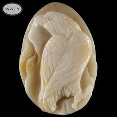 Carved Eagle Morocco Crazy Agate Bead   eBay