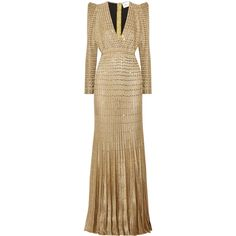 Zuhair MuradEmbellished Metallic Ribbed-knit Gown (8 091 AUD) ❤ liked on Polyvore featuring dresses, gowns, embellished evening gowns, brown evening gowns, shimmer dress, slimming evening dresses and red carpet evening gowns