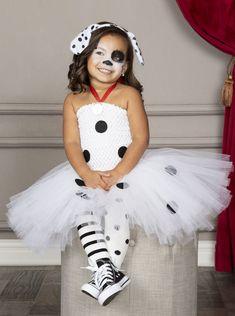Cute Toddler Halloween Costumes, Diy Girls Costumes, Halloween Tutu Dress, Toddler Girl Halloween, Toddler Costumes, Creative Halloween Costumes, Halloween Outfits, Dalmatian Halloween, Dalmatian Costume