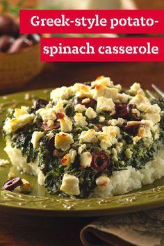 Greek-Style Potato-Spinach Casserole – If you like lemon potatoes ...