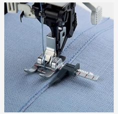The Pfaff Seam Guide Foot guides your stitching perfectly when joining fabrics. The Pfaff Seam Guide Foo has a metal guide at i buy Pfaff Presser Feet and accessories from the colorful world of sewing. There is an ever growing assortment of Pfaff accessor Sewing Basics, Sewing For Beginners, Sewing Hacks, Sewing Tutorials, Sewing Crafts, Techniques Couture, Sewing Techniques, Sewing Tools, Sewing Notions