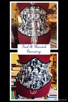 Star Wars corset made by Tied & Waisted Corsetry. A bespoke under bust corset, a gift for my daughter